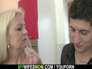 granny gives head and bonks her son in law