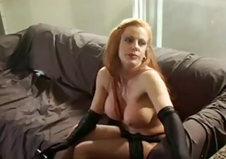 sexy redhead cougar solo smokin and playing