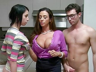stepmom d like to fuck lets boy facial jism his gf