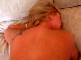 wife showing a creampie