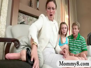 stepmom punishes a legal age teenager pair with a