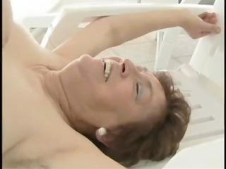 granny poolside fuck - aged porn tube movie scene